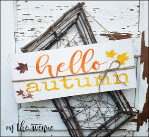 Hello Autumn Door Hanger