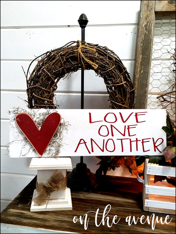 Love One Another Heart Sign