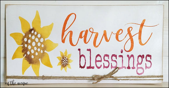 Harvest Blessings Fall Sign