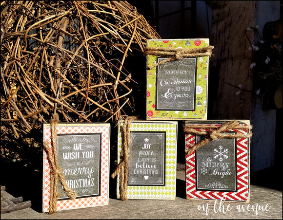 Be Merry - Block Set of 4