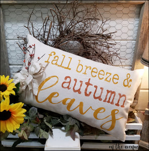 Fall Breeze & Autumn Leaves Pillow (Stuffed)