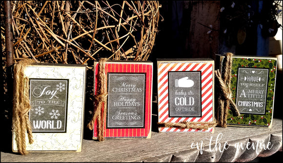 Baby It's Cold Outside - Christmas Block Set