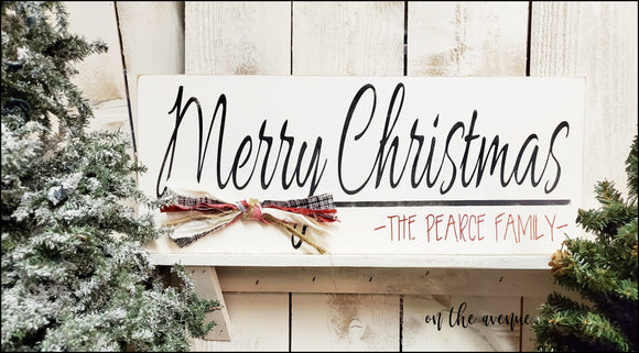 Merry Christmas - Custom Name Sign