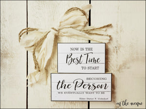 Now Is The Best Time - Mini Block Set
