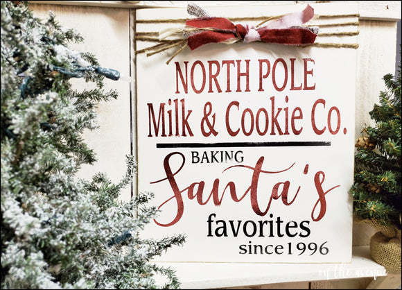 North Pole Milk & Cookie Co Sign