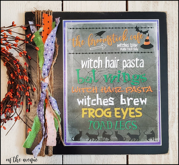 Broomstick Cafe - Halloween Sign