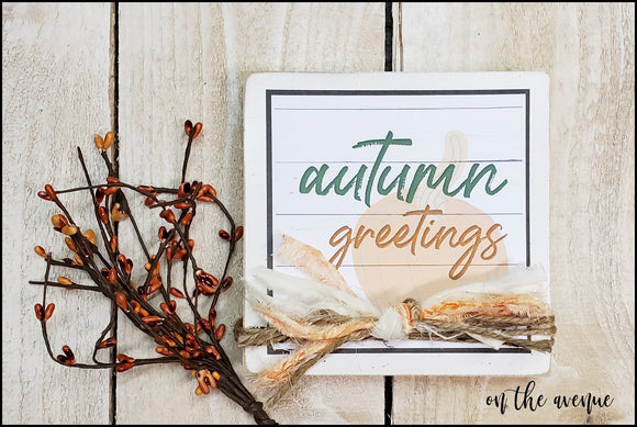 Autumn Greetings - Shelf Sitter Block
