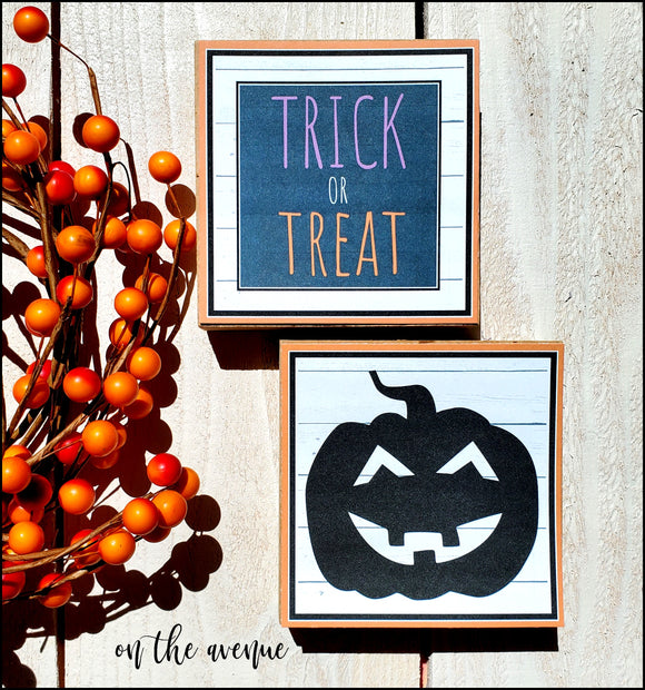 Trick Or Treat Pumpkin - Block Set