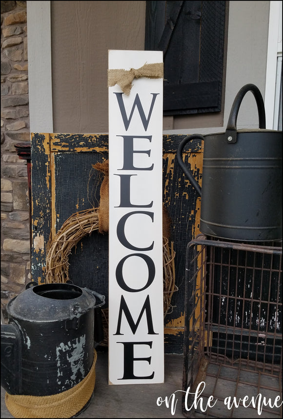 #10 - Welcome Tall Sign