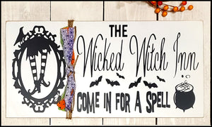 The Wicked Witch Inn - Halloween Sign