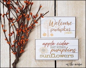 Welcome To Our Pumpkin Patch - Block Set