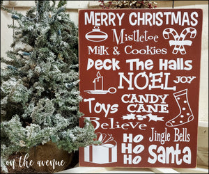 Merry Christmas ~ Subway Art Sign