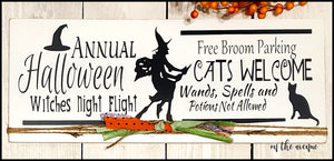 Annual Halloween Witches Night Out - Halloween Sign