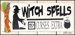 Witch Spells - Halloween Sign