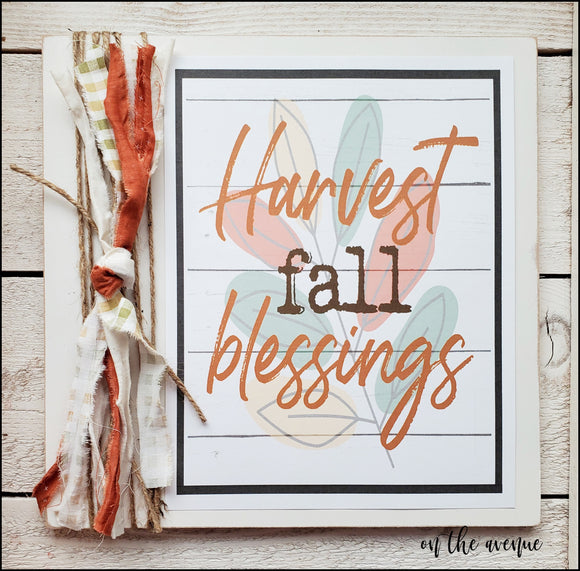 Harvest Fall Blessings - Autumn Sign