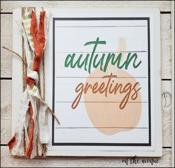 Autumn Greetings - Autumn Sign