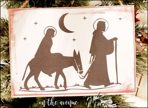 Nativity Scene Christmas Sign