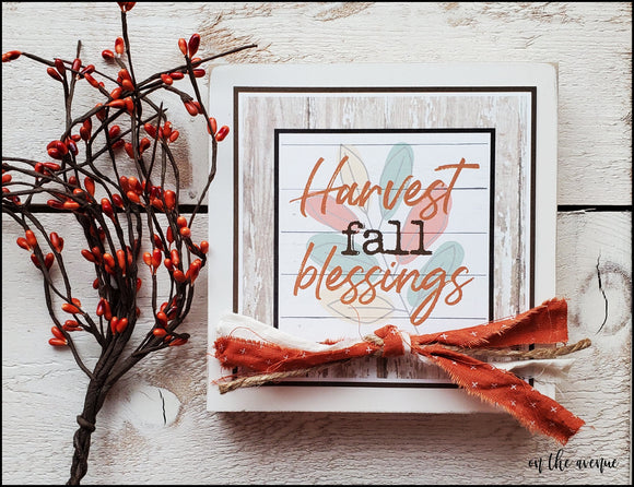 Harvest Fall Blessings - Shelf Sitter