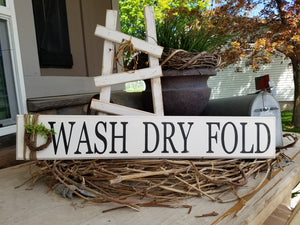 Wash Dry Fold - Wood sign