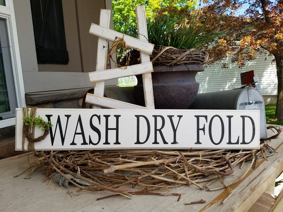 #7 - Wash Dry Fold - Wood sign