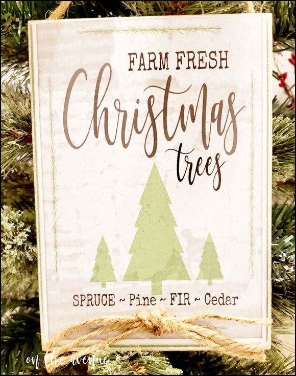 Farm Fresh Christmas - Christmas Sign