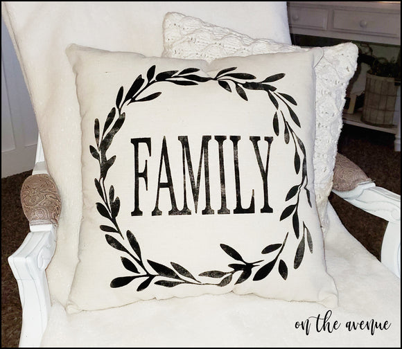 Family - Stuffed Pillow