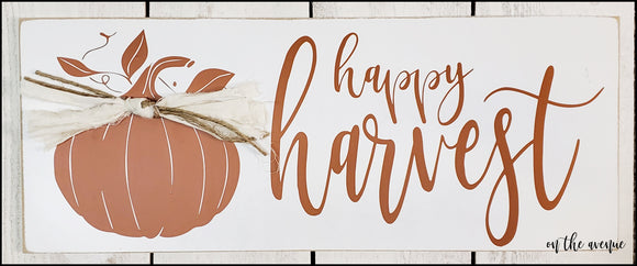 Happy Harvest Pumpkin Sign