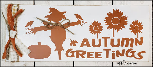 Autumn Greetings - Fall Sign