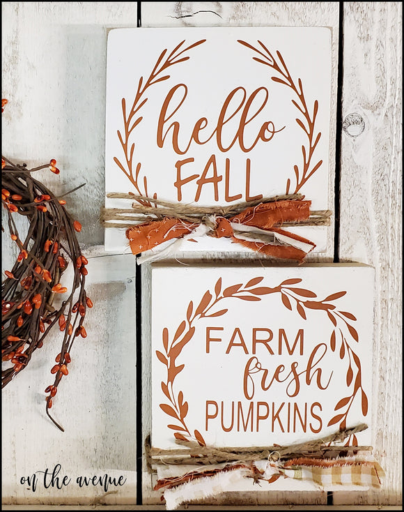 Hello Fall Block Set