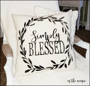 Simply Blessed - Stuffed Pillow