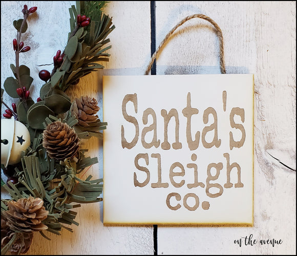 Santa's Sleigh Co - Ornament