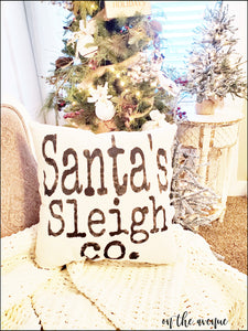 Santa's Sleigh Co - Christmas Pillow