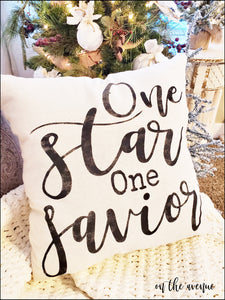 One Star One Savior - Christmas Pillow