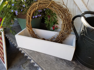 Fresh Cut Flowers Wood Box
