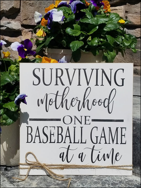 Surviving Motherhood One Baseball Game at A Time