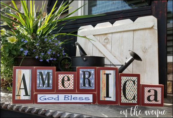 God Bless America Block Set