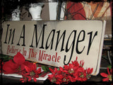Away In A Manger - Long Sign