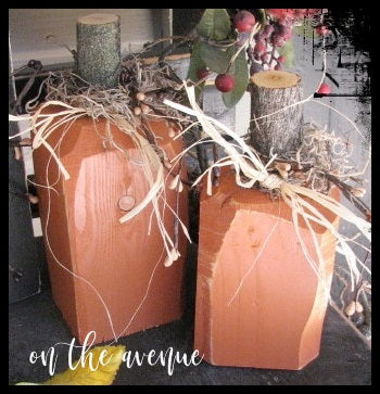 Rustic CHUNKY PUMPKIN- Set of 2