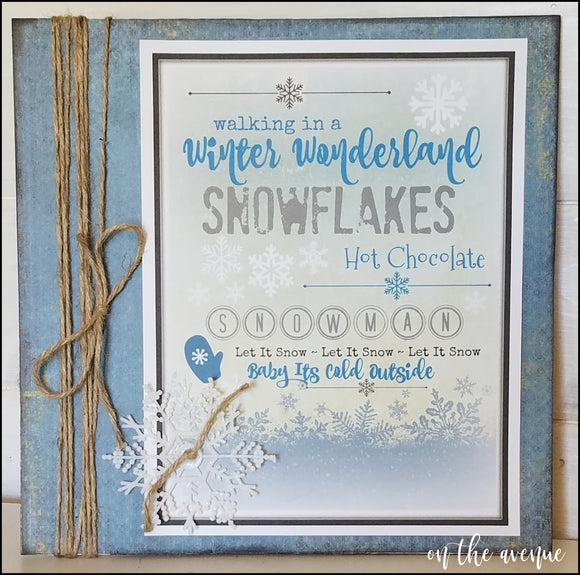 Winter Wonderland Snowflakes Sign