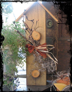 Rustic Autumn Birdhouse
