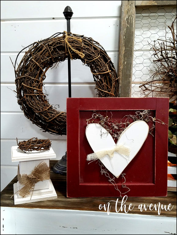 Rustic Heart Box