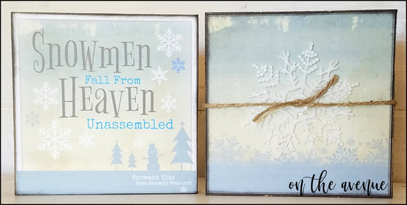 Snowmen Fall From Heaven Unassembled - Block Set