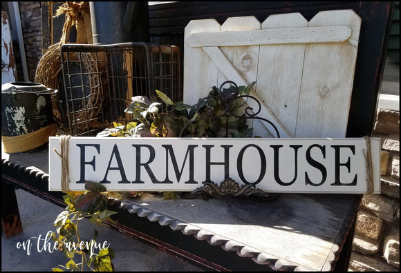 Farmhouse Wood Sign