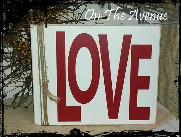 LOVE - Wood Sign