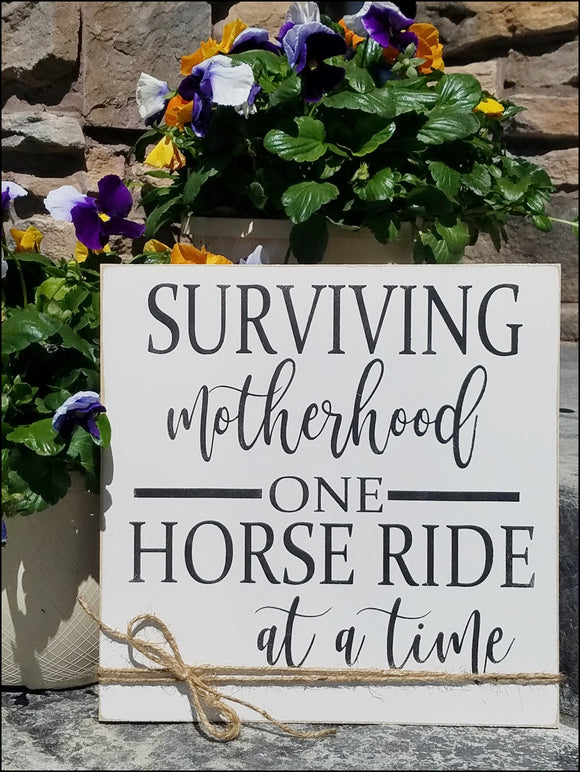 Surviving Motherhood One Horse Ride At A Time