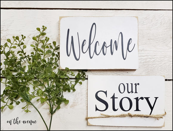 Welcome/Our Story Magnet Set