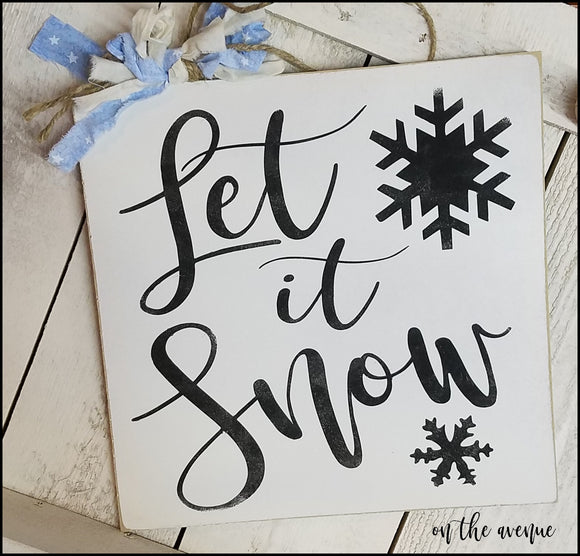 Let It Snow - Door Hanger
