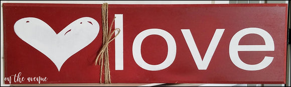 #5 - Heart/Love Wood Sign