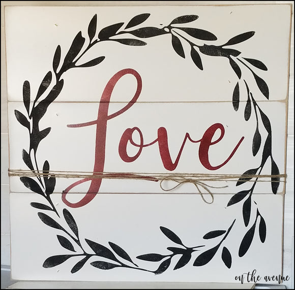 Love Wreath Latte Sign