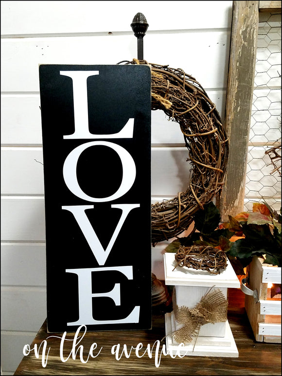 #10 - LOVE Rustic Sign